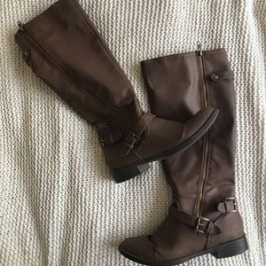 Brown Knee-High Riding Boots